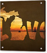 Love Lake Michigan Acrylic Print