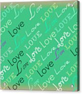 Love Letters Acrylic Print