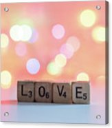 Love Lights Square Acrylic Print