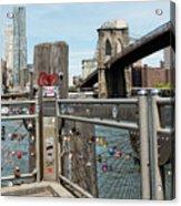 Love Locks In Brooklyn New York Acrylic Print