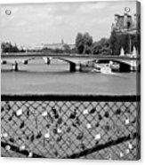 Love Locks Over The Seine Acrylic Print