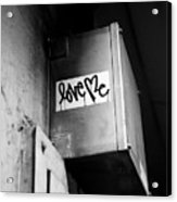 Love Me Acrylic Print by Dean Harte