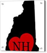 Love New Hampshire Black Acrylic Print