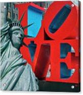 Love New York Acrylic Print