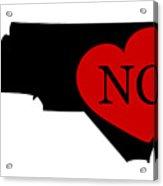 Love North Carolina Black Acrylic Print