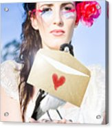 Love Note Delivery From The Heart Acrylic Print