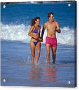 Love On A Beach Acrylic Print