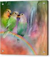 Love On A Rainbow Acrylic Print by Carol Cavalaris