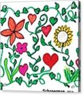 Love On The Vine Acrylic Print