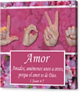 Love One Another Spanish Acrylic Print