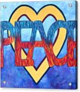 Love Peace Acrylic Print