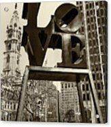 Love Philadelphia Acrylic Print by Jack Paolini