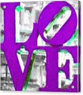 Love Philadelphia Purple Digital Art Acrylic Print