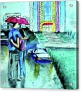 Love Rain Acrylic Print