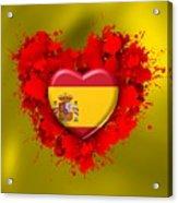 Love Spain Acrylic Print