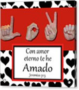 Love Spanish Bw Graphic Acrylic Print