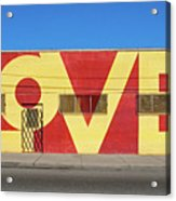 Love Store Front Acrylic Print