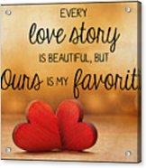 Love Story Acrylic Print