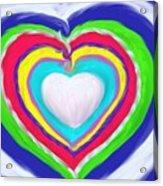 Love Surrounds Love Surrounds Love Acrylic Print
