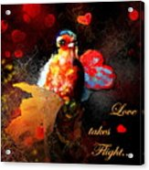 Love Takes Flight Acrylic Print