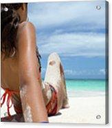 Love The Beach Acrylic Print