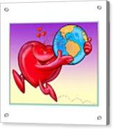 Love The Planet Acrylic Print