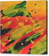 Love Those Diagonals - Yellow 1 Acrylic Print