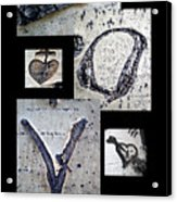Love Written In The Trees 4 Acrylic Print