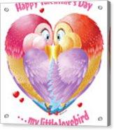 Lovebirds Acrylic Print