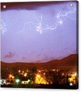 Loveland Colorado Front Range Foothills  Lightning Thunderstorm Acrylic Print