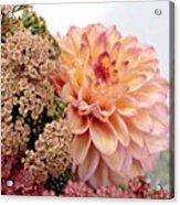 Dahlia Flower Bouquet Acrylic Print