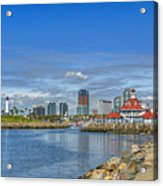 Lovely Day Long Beach Acrylic Print