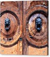 Lovely Double-door   Rome Acrylic Print