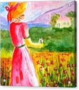 Lovely Lady Landscape Acrylic Print