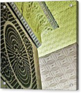 Lovely Patterns Of An Old School Interior Acrylic Print