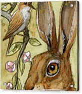 Lovely Rabbits - By Listening To The Song Acrylic Print