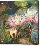 Lovely Waterlilies 7 Acrylic Print