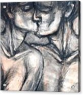 Lovers - Kiss Acrylic Print