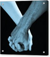 Lovers Hands Acrylic Print