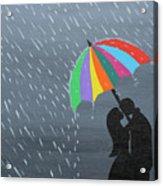Lovers In The Rain Acrylic Print