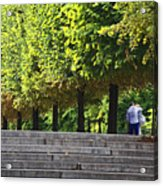 Lovers In The Tuileries Acrylic Print