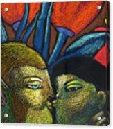 Lovers Kiss Acrylic Print
