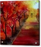 Lovers' Lane Acrylic Print