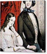 Lovers Quarrel, 1846 Acrylic Print