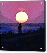 Lovers Sunset Acrylic Print