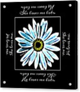 Loves Me In Blue Acrylic Print