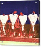 Loves On A Row Acrylic Print