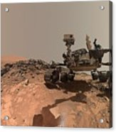 Low-angle Self-portrait Of Nasa's Curiosity Mars Rover Acrylic Print