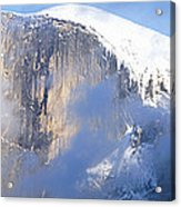 Low Angle View Of A Mountain Covered Acrylic Print