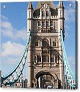 Low Angle View Of Tower Bridge, London Acrylic Print